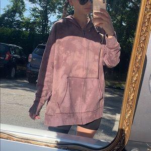 Custom tie dye oversized hoodie